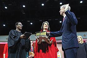 Judge Sharon Johnson, Diana Rauner and Gov. Bruce Rauner
