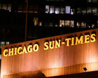 the former location of the Chicago Sun-Times