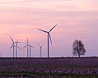 Turbines at the Twin Groves Wind Farm near Bloomington
