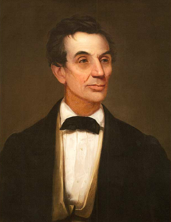 Uncredited portrait of Lincoln painted from life in 1860