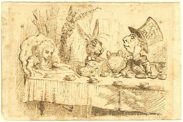 Alice's Adventures in Wonderland by Lewis Carroll with forty-two illustrations by John Tenniel - 1865