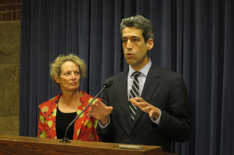 Rep. Elaine Nekritz and Sen. Daniel Biss