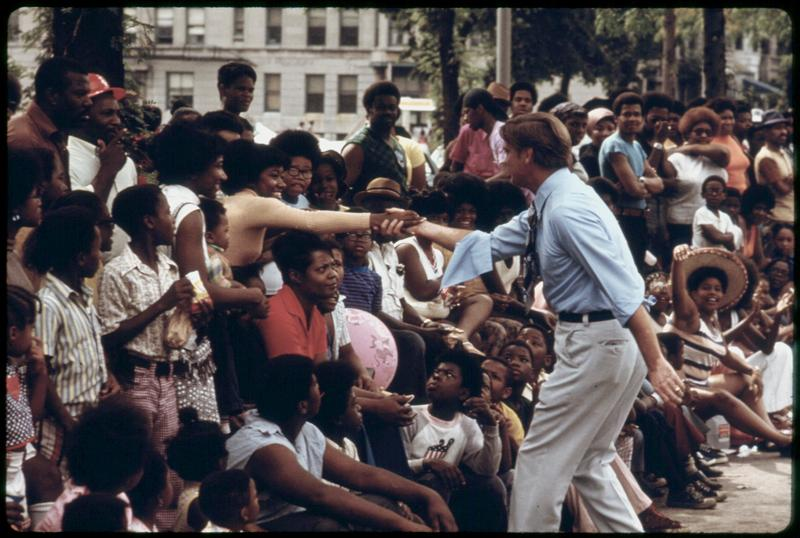 Dan Walker at the 1973 Bud Billiken Day Parade