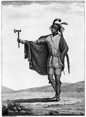 Drawing of a Native American