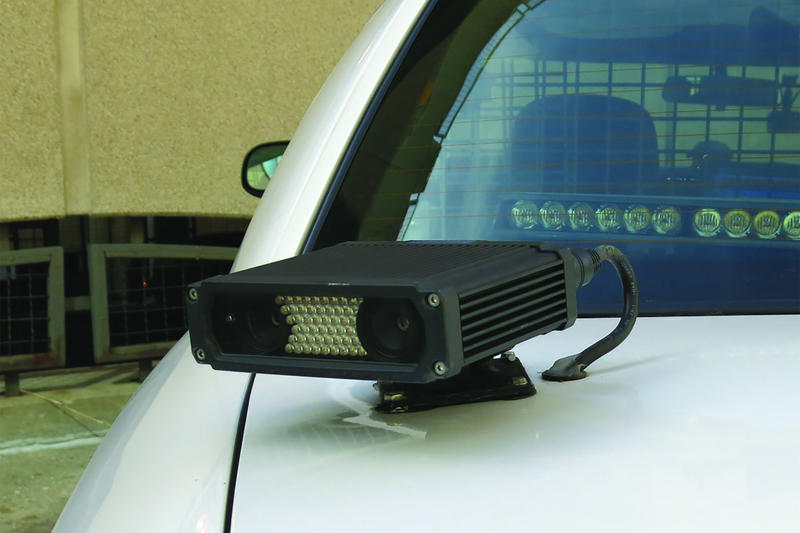 Car mounted license plate reader