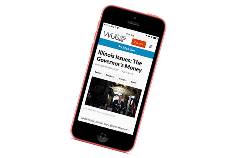 smartphone viewing Illinois Issues