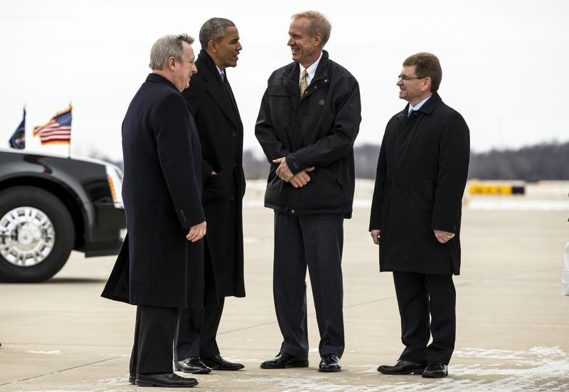 Dick Durbin, Barack Obama, Bruce Rauner, Jim Langfelder