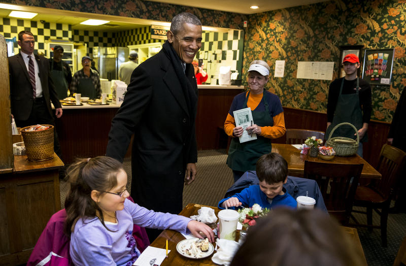 Barack Obama at The Feed Store