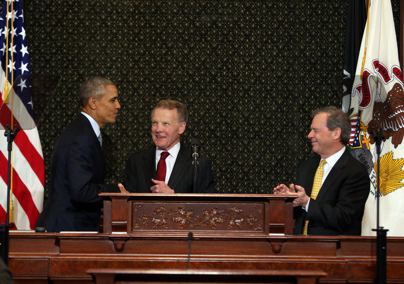 Barack Obama, Michael Madigan and John Cullerton