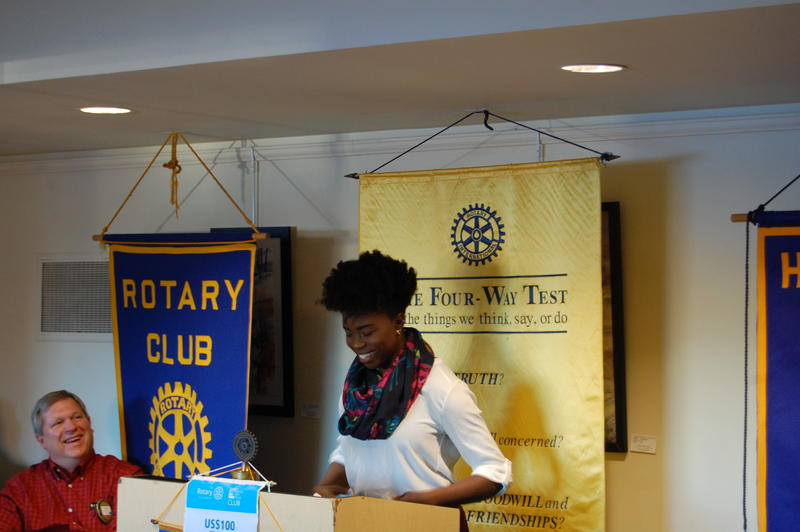 Springfield High School Senior Ejehi Erewele Reads Her Essay 'Hey Black Girl' For The Rotary Club Of Springfield Sunrise