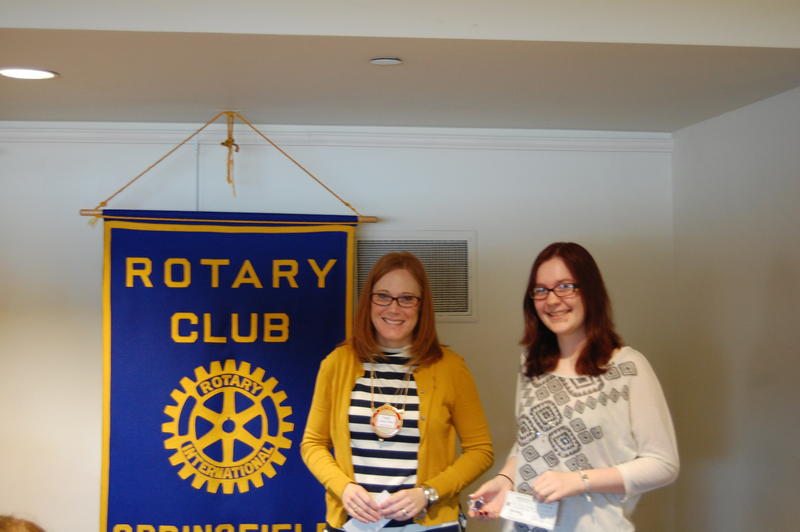 Lanphier High School Senior Janie Sutherd Receives Her Scholarship From The Rotary Club Of Springfield Sunrise