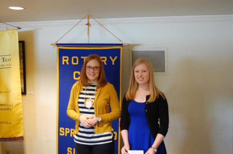 Pawnee High School Senior Jordan Lott Receives Her Scholarship From  The Rotary Club Of Springfield Sunrise