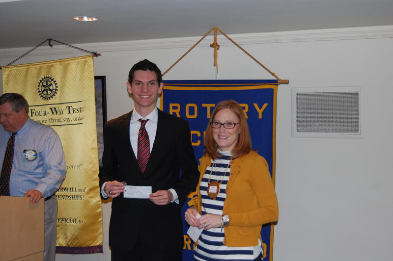 Springfield High School Senior Noah Schlosser Recieves His Scholarship From The Rotary Club Of Springfield Sunrise