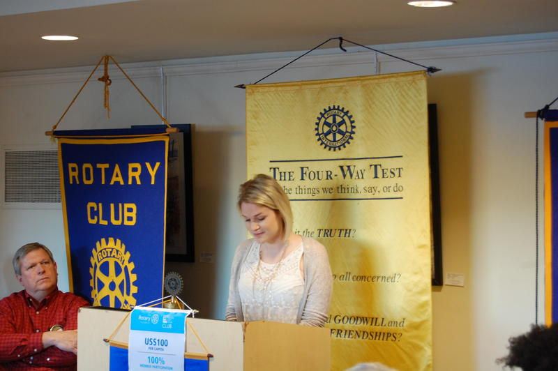 Riverton High School Senior Olivia Moore Reads Her Essay 'Laugh a Little' For The Rotary Club Of Springfield Sunrise