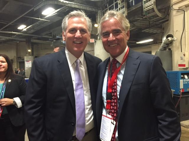 Congressman Kevin McCarthy of California and former Illinois Republican Party Chairman Pat Brady at the Republican National Convention.