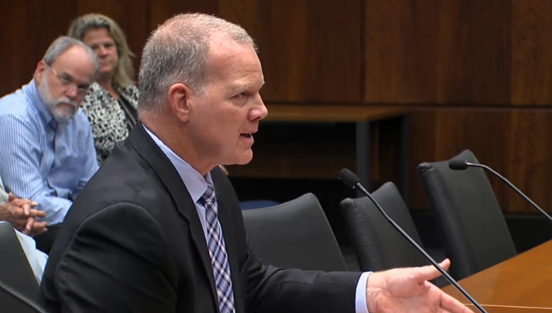 Tony Smith, superintendent of the Illinois State Board of Education, mentioned his critique of the federal Department of Education while testifying before the House committee on school curriculum and policies.