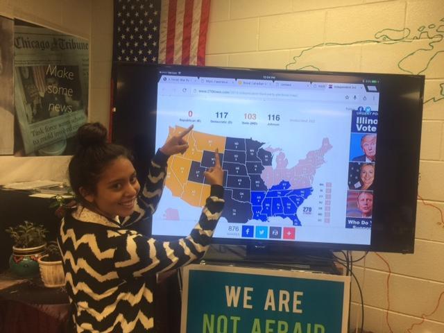 Elisabeth Gonzalez is a senior at Bartlett High School. She was Hillary Clinton in her class political simulation.