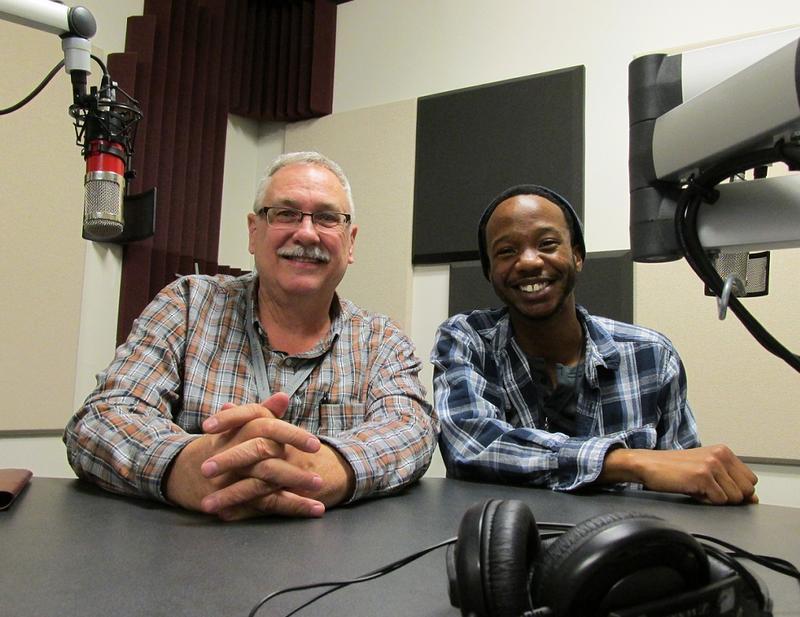 Director Phil Funkenbusch (L) & actor Reggie Guyton