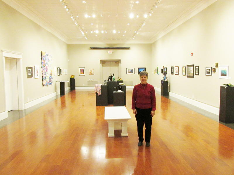Betsy Dollar in the Springfield Art Association's main gallery