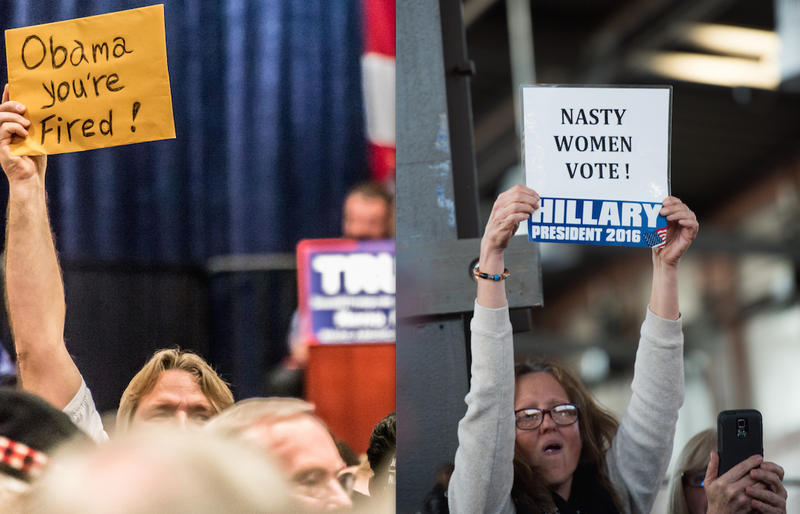 Trump rally in Reno, Nevada / Clinton Rally