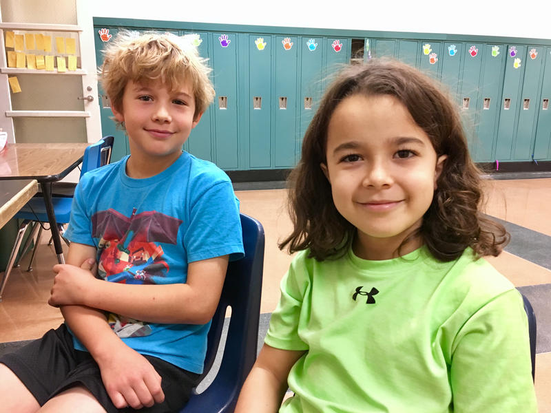Kelby (left) and Ignacio are 5th graders in the dual language program