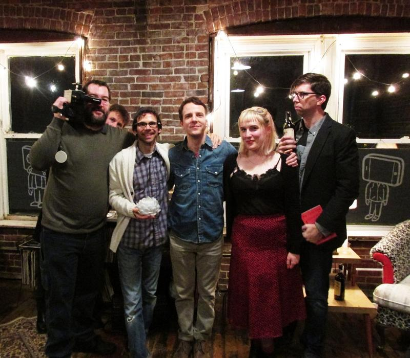 Cast & crew of The Studio Show... from left: Joe Day, Adam Nicholson, Keil Isham, Arlin Peebles, Emma Wilson & Dave Heinzel