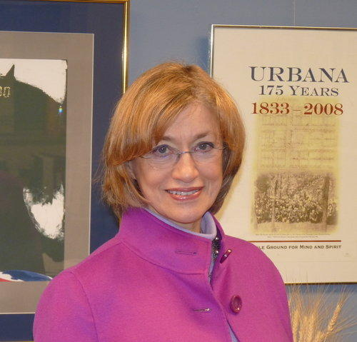 Urbana Mayor Laurel Prussing