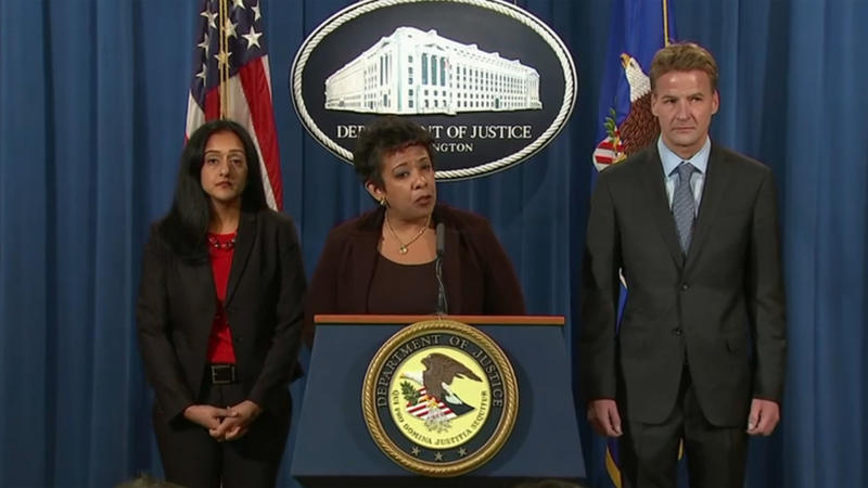 U.S. Department of Justice press conference