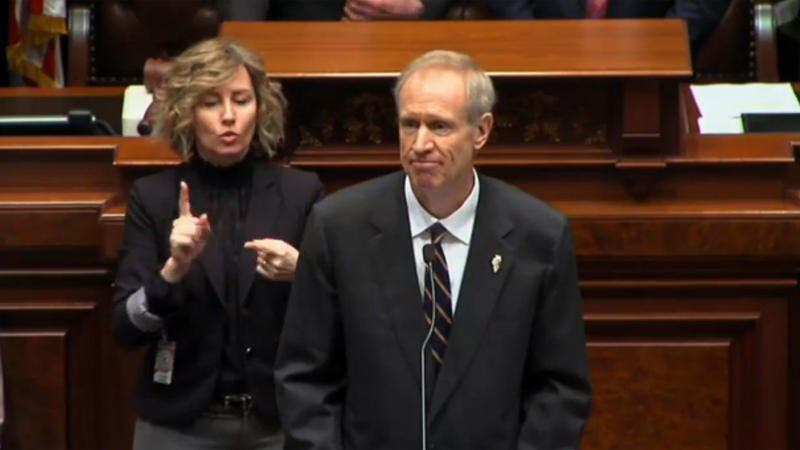 Gov. Bruce Rauner delivers the State of the State address.