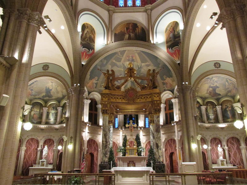 a view inside the St. Francis of Assisi Church