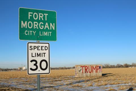 President Donald Trump pulled in 68 percent of the vote in Morgan County, Colorado, where Fort Morgan is located.