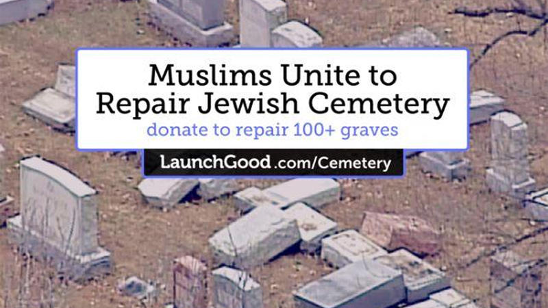 'Muslims Unite to Repair Jewish Cemetery' campaign on LaunchGood