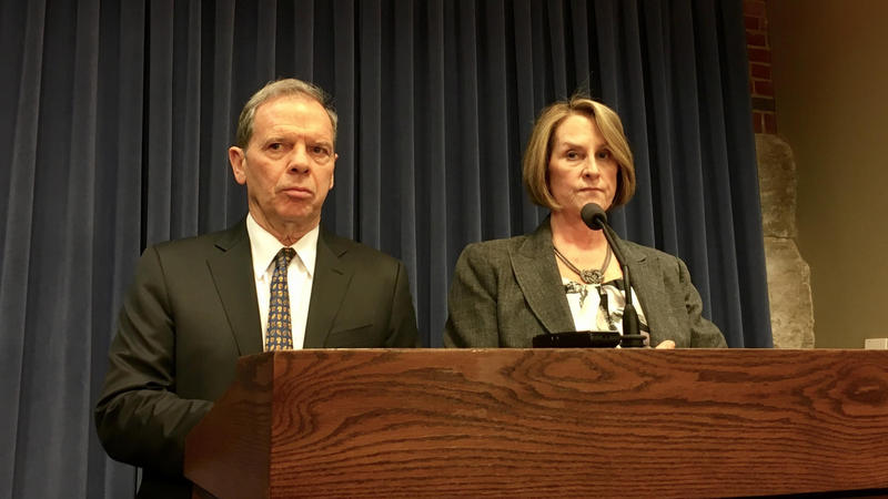 John Cullerton and Christine Radogno