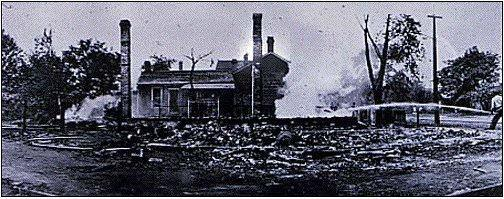 example of damage to a black residence during the 1908 Race Riot in Springfield