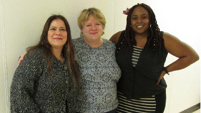 from L: Veronica Espina, Tracy Owens & Shatriya Smith