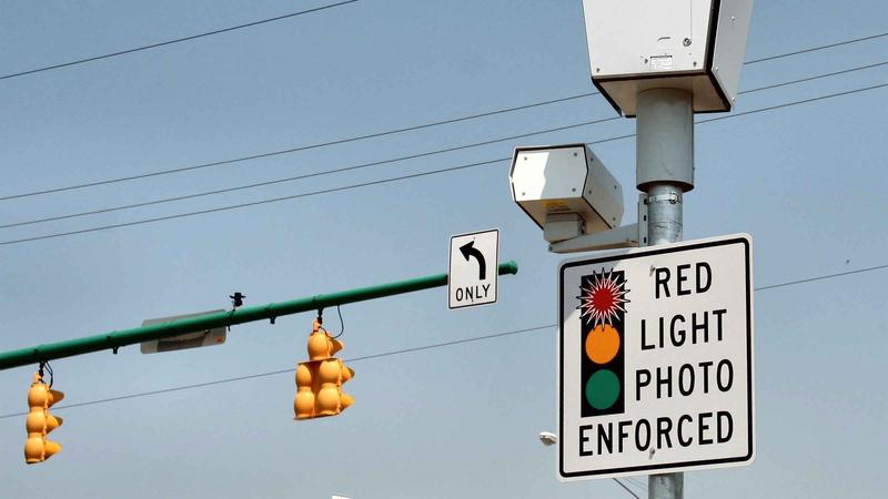 Red light camera at intersection