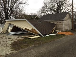 A south Ottawa garage flattened by the storm