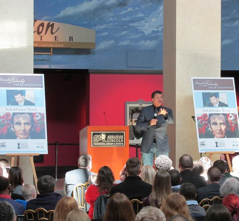 Neil deGrasse Tyson speaking at the ALPLM
