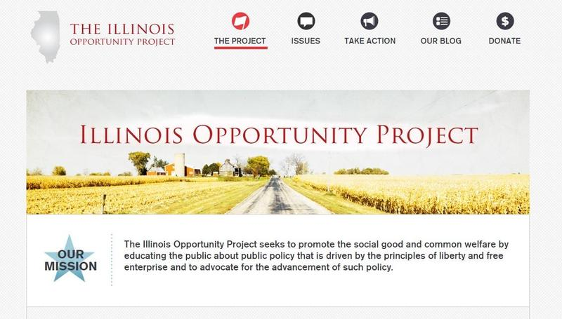 A screenshot of The Illinois Opportunity Project website.