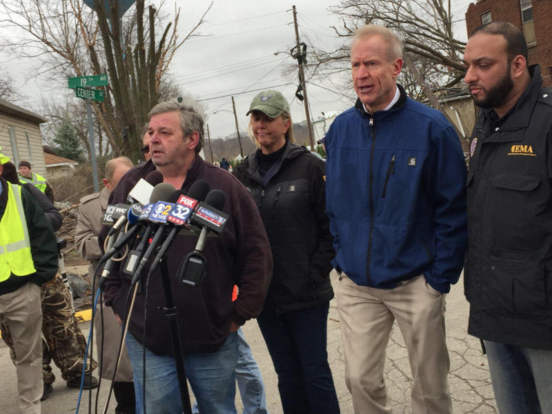 Gov. Rauner and local officials hold a news conference