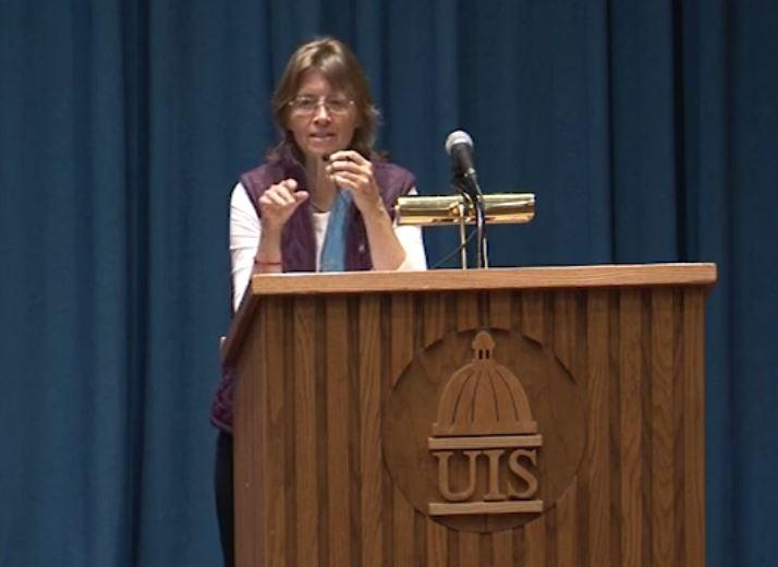 Pamela Constable speaks at UIS