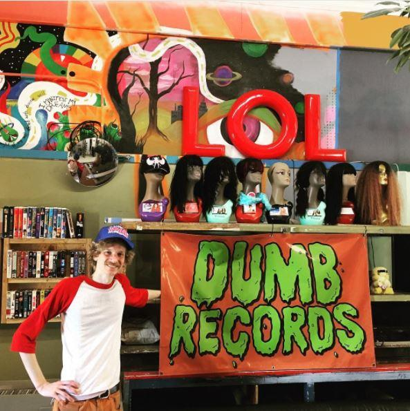 Brian Galecki in Dumb Records store (107 South Grand E. Springfield, IL)