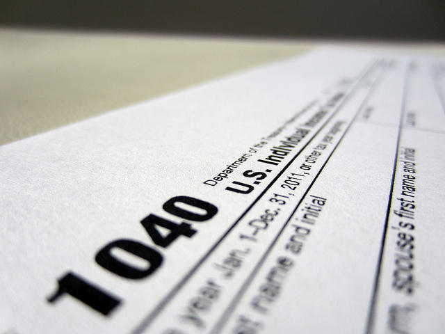 IRS-1040 tax form header