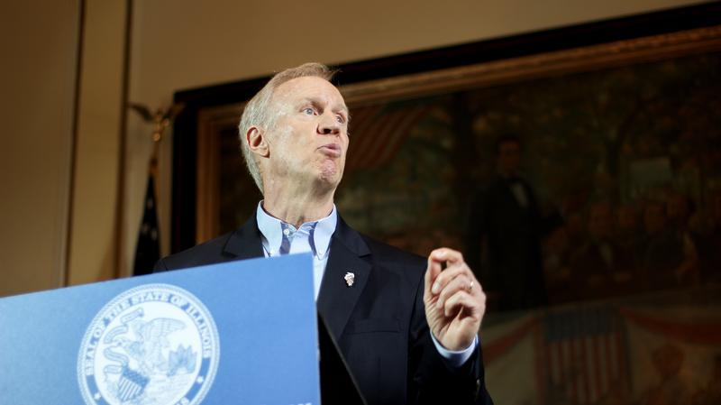 Rauner announced his amendatory veto of SB1 standing alone.