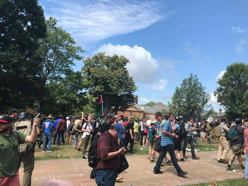 From the scene in Charlottesville on Saturday.