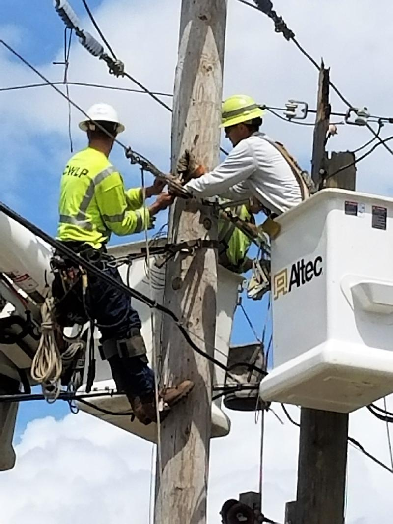 City Water, Light and Power crews traveled to Lake Worth, Florida, to help restore power after Hurricane Irma.