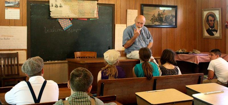 Ken Bradbury in one of his favorite roles, teacher