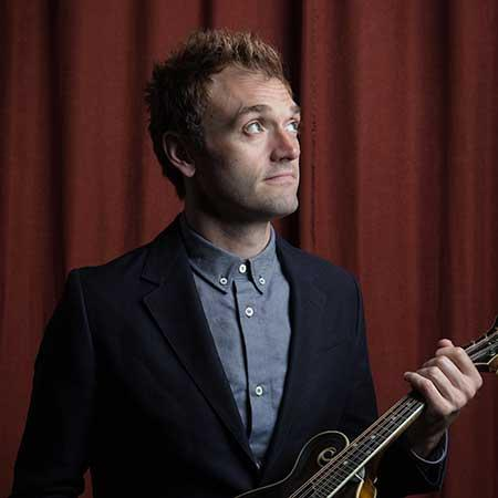 Chris Thile with mandolin