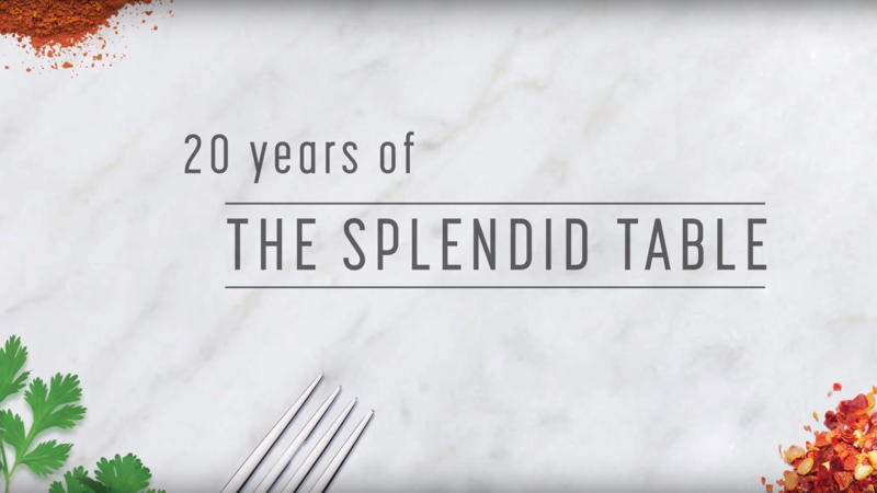 20 Years of the Splendid Table graphic
