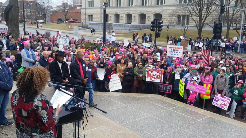 the women's march in Springfield, 2018